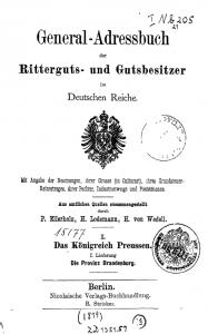 Ritterguts- und Gutsbesitzer im Deutschen Reiche